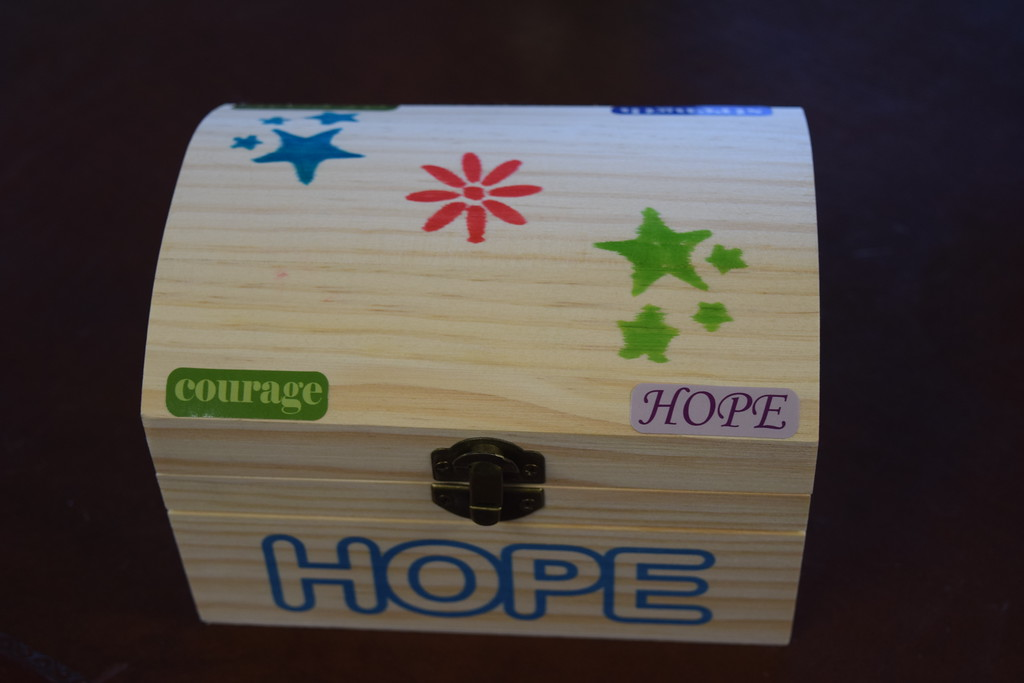 . Guests of the Lake House receive a backpack filled with items of comfort including this trinket box, donated by the McKesson Foundation Program.