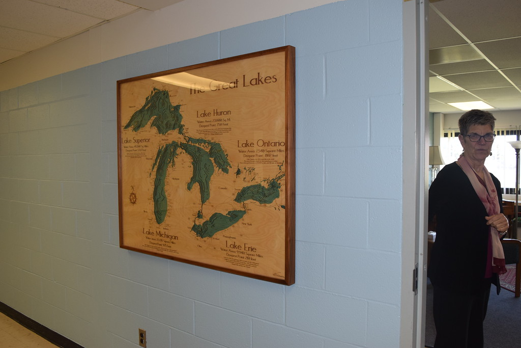 . Lake House director Madeline Bialecki gives a tour of the organization\'s new facility in St. Clair Shores.