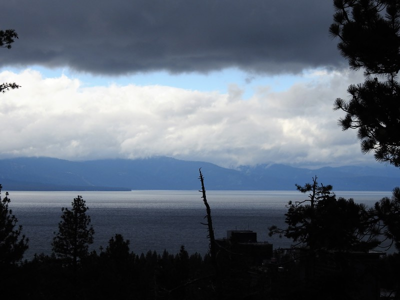 Here's the Vista point where you can see out over South Lake Tahoe.