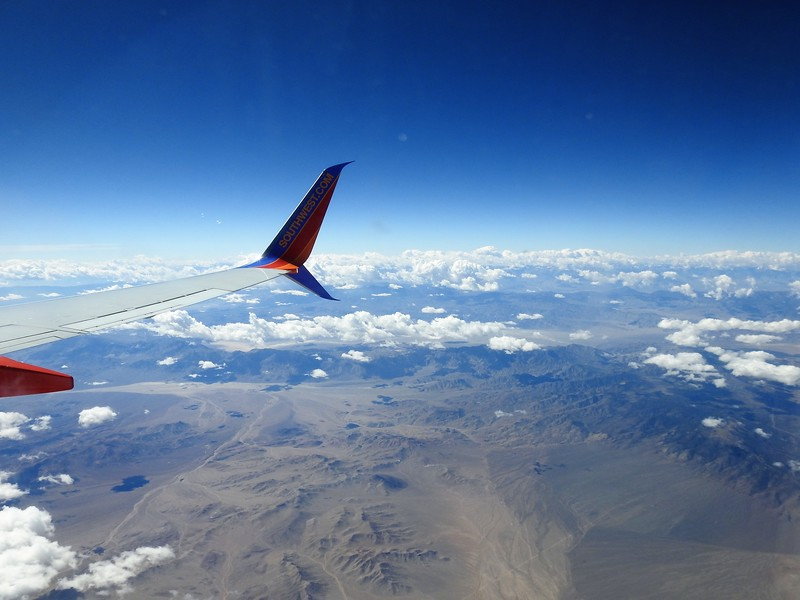 This was the flight enroute to Las Vegas from Reno. Nevada has a lot of beautiful landscape I love to look at from the air. Here I had a few great photo opportunities.