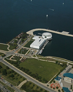 A wider view of Discovery World and lakefront. June 2009