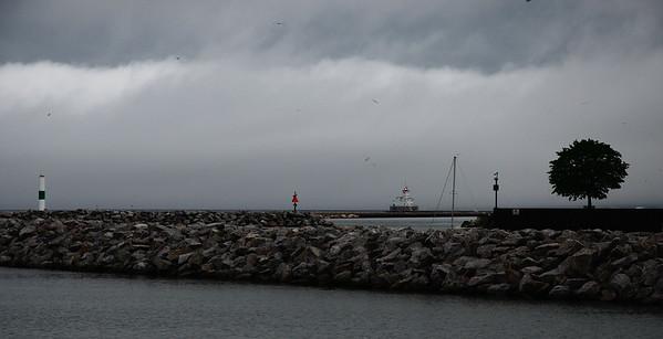 Breakwater Lighthouse Fog Bank