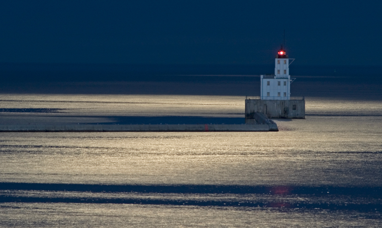 Breakwater Lighthouse in the moonlight. May of 2009