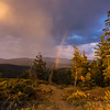 Thunderstorm and Rainbow from Packer Saddle
