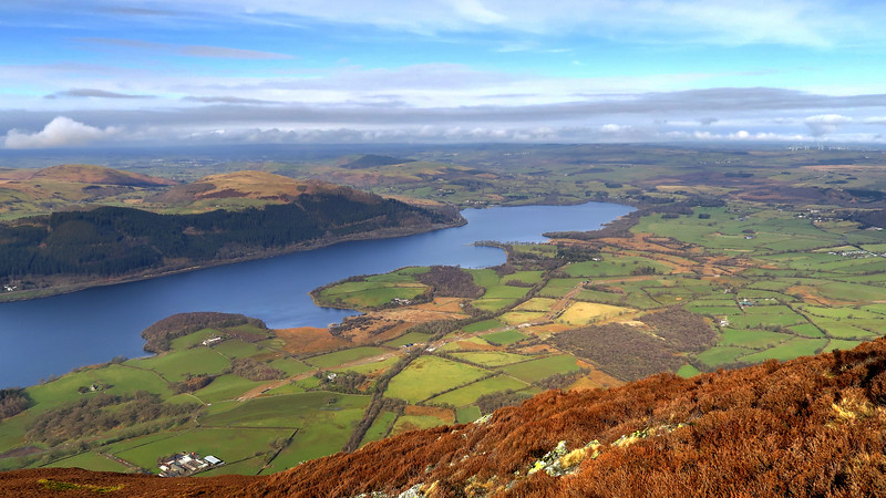 Bassenthwaite Lake from Ullock Pike where we stopped for our drinks break