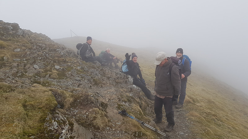 At the summit of Grisedale Pike it had become very thick and there were no views to be seen
