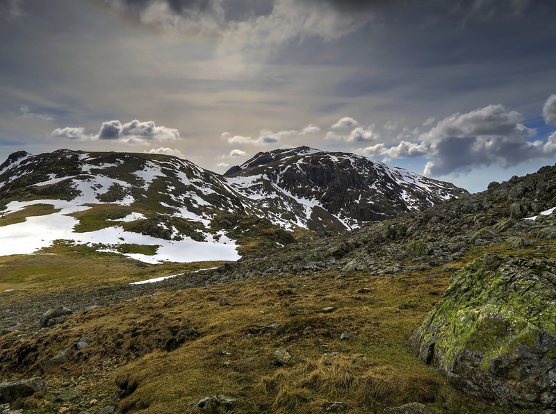 Ill Crag and Scafell Pike from Great End