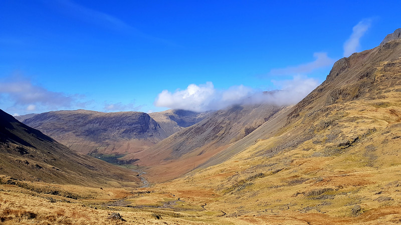 The view back along Styhead Gill