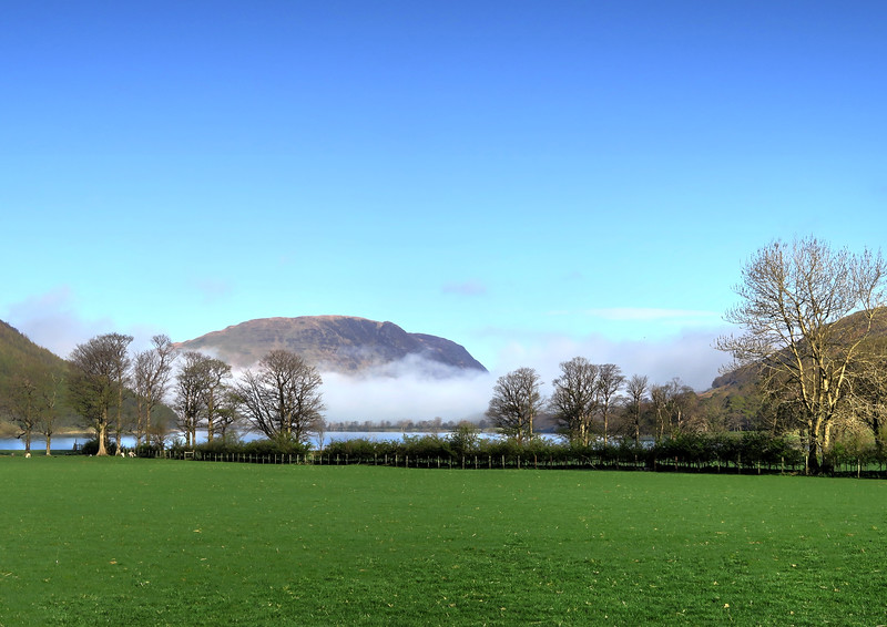 The view of Loweswater Fell across Buttermere from Gatesgarth