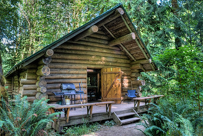 """Rustic Log Cabin - Cowichan River - Vancouver Island, BC, Canada Visit our blog """"A Night At Cowichan River"""" for the story behind the photo."""