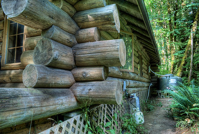"Rustic Log Cabin - Cowichan River - Vancouver Island, BC, Canada Visit our blog ""A Night At Cowichan River"" for the story behind the photo."