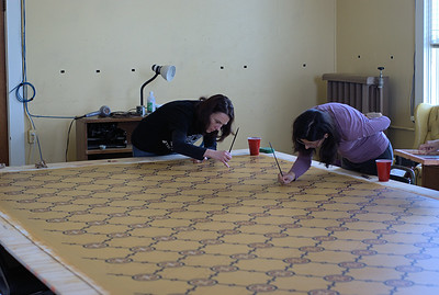 """Ross Bay Villa Oilcloth Project - Victoria, BC, Canada Visit our blog """"A Project Of Love"""" for the story behind the photos."""