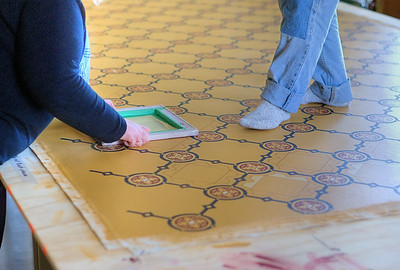 "Ross Bay Villa Oilcloth Project - Victoria, BC, Canada Visit our blog ""A Project Of Love"" for the story behind the photos."