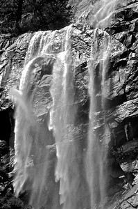 Hetch Hetchy Triple Fall B &W