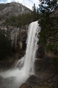 At the Top of Vernal Fall in Yosemite