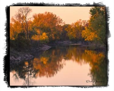 Autumn Landscape along the Embarrass