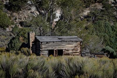 Utah Cabin Digital Painting