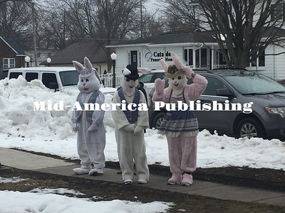 Photo courtesy of Julie Guenther The whole Easter Bunny's family showed up to the egg hunt to greet the children.