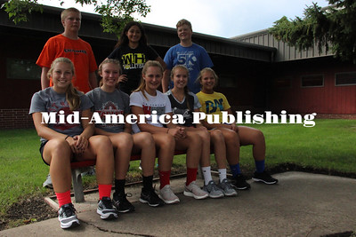 Curran McLaughlin | The Leader Members of the West Hancock cross country team for the 2017 seaso are: (front row, left to right) Riley Hiscocks, Rachel Leerar, Makayla Faust, Kelly Leerar, Madison Eisenman, (back row) Chance Eden, Jennifer Lopez, and Riley Eden.