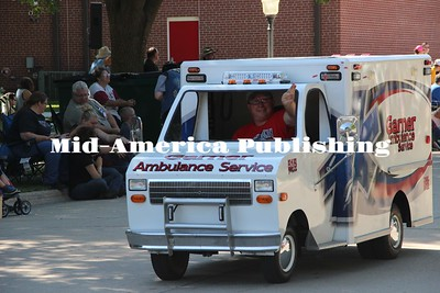 Garner Ambulance Service showcases their mini ambulance.