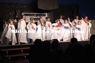 "Curran McLaughlin | The Leader Kanawha Christian School put on it's Christmas program on Dec. 5. The musical was titled ""Fear Not Factor"" had the students dressed up as angels preparing for the birth of Jesus."