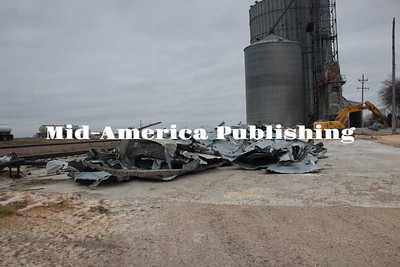 Curran McLaughlin | The Leader The aftermath and cleanup of the grain bin.