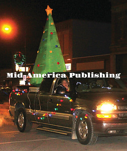 An entry in the Holiday Affair lighted parade at Garner.