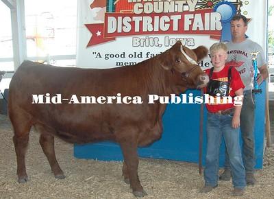 Reserve Champion Breeding Heifer Garrett Cash Elcon Indians
