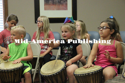 Curran McLaughlin | The Leader Kids focus on keeping in rhythm.