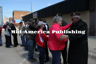Curran McLaughlin | The Leader People lined up to thank the veterans who fought in Vietnam.