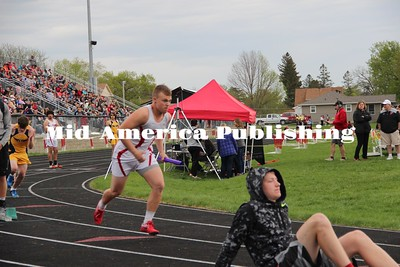 Curran McLaughlin | The Leader Chase Eisenman explodes off the block at the District meet in Nashua-Plainfield.