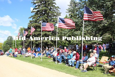 Curran McLaughlin | The Leader People from the Britt area waiting for the Memorial Day ceremony to start at Evergreen Cemetery.