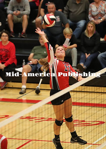 Rick Ermer Photo GHV's Morgan Westendorf goes for a kill during the Cards 3-1 loss to North Union.