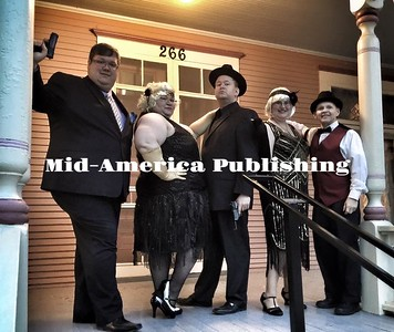 Photo courtesy of Jill Blank A photo of the cast from the 2015 Murder Mystery dinner. (Left to Right): Ryan Arndorfer (Mickey Macaroni), Jill Blank (Bunny Hugg), Kevin Sweers (Tommy Gunn), Allie Baker (Sherry Shimmy) and Mike Brown (Guy Sendalls).
