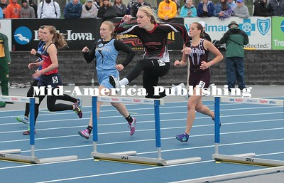 Kristi Nixon | MAPC Jillian Heitland of GHV runs the 400-meter hurdles at the Class 2A state meet on Friday.