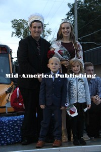 Curran McLaughlin | The Leader West Hancock Homecoming King and Queen Bryce Baker and Gabby Bell with the West Hancock Homecoming Prince and Princess Knox Riedesel, son of Nicole and Tanner Riedesel, and Alannah Van Epps, daughter of Jilian and Nate Van Epps.