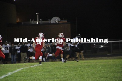 Curran McLaughlin | The Leader Caleb Eckels takes it to the house on a 69-yard kickoff return.