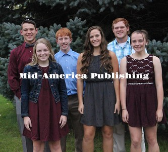 Curran McLaughlin | The Leader The 2018 West Hancock Homecoming Underclassmen Attendees. Left to Right: (Freshman, Sophomore and Junior); Front Row - Parker Hiscocks, Ann Horstman, Ryleigh Hudspeth; Back Row - Mathew Francis, Collin Ford, Chandler Redenius.