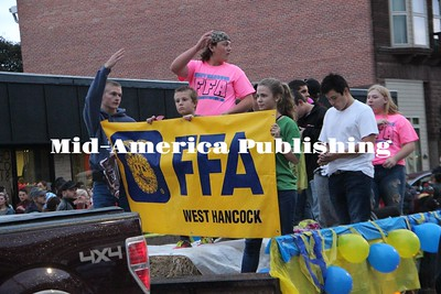 Curran McLaughlin | The Leader West Hancock FFA represent in the Homecoming Parade.