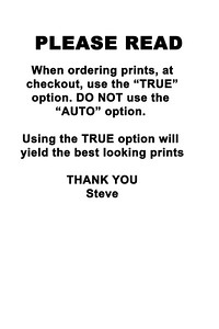 ORDER INSTRUCTIONS
