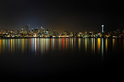 Seattle, Washington. The skyline of the city taken from Gasworks Park along the shores of Lake Union. When ordering, make sure you move and adjust the image in order to get the printed area just the way you want it. You don't want to cut off the Space Needle!