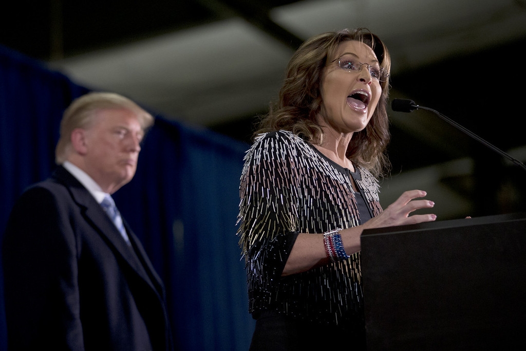 ". <p>1. SARAH PALIN </p><p>Former VP candidate goes rogue and does the impossible: Makes Donald Trump look presidential by comparison. (unranked) </p><p><b><a href=""http://www.nytimes.com/2016/01/21/us/politics/sarah-palin-endorsement-speech-donald-trump.html?_r=0\"" target=\""_blank\""> LINK </a></b> </p><p><br>    (AP Photo/Mary Altaffer)</p>"