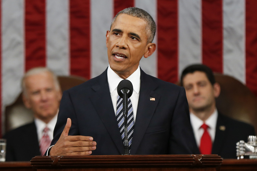 . <p><b>BARACK OBAMA  </b> </p><p>President of the United States, offering his final State of the Union address: </p><p><br> </p><p><i> �It�s one of the few regrets of my presidency �� �that the rancor and suspicion between the parties has gotten worse instead of better.� </i> </p><p><br> </p><p><i><b> Translation: �And for this, I obviously blame the Republicans.� </b></i> </p><p><br>   (AP Photo/Evan Vucci, Pool)</p>