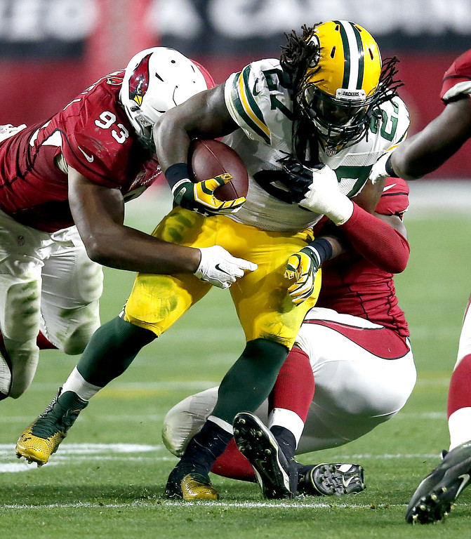 . <p><b>MIKE McCARTHY  </b> </p><p>Green Bay coach, on larger-than-life running back Eddie Lacy, above: </p><p><br> </p><p><i> �He\'s got a lot of work to do. His offseason last year was not good enough and he never recovered from it. He cannot play at the weight he was at this year.� </i> </p><p><br> </p><p><i><b> Translation: �Eddie hasn�t seen his toes since the Pro Bowl.� </b></i> </p><p><br>   (AP Photo/Rick Scuteri)</p>