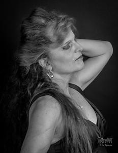 Portrait profile in monochrome