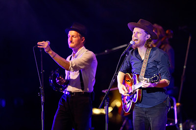 The Lumineers live at Meadowbrook on 9-24-2016. Photo credit: Ken Settle