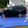 The Lunenburg Skate Park project held a funraising car wash on Friday night out in front of the Eagle House Senior Center. They presold about 70 tickets to the funraiser. SENTINEL & ENTERPRISE/JOHN LOVE