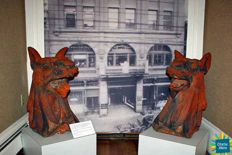 Law Building gargoyles from the 1800s