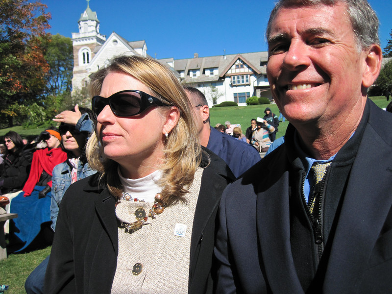 Presenting our program 'The Spark' at the Faustina Day festivities at the National Shrine in Stockbridge, MA.  October 2, 2010