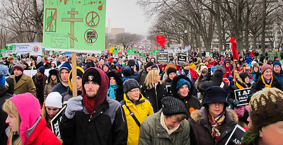 Looking back down Constitution Avenue, a view of the immensity of the event.